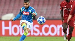 Napoli-Liverpool 1-0: Insigne firma il gol vittoria al 90'