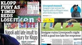 Il trionfo del Napoli sui quotidiani inglesi: «Furia Klopp, Liverpool timido»