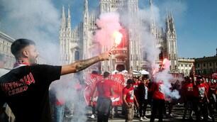 I tifosi dell'Olympiacos invadono Milano