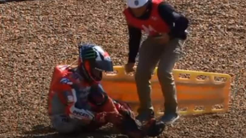 MotoGp Thailandia: brutta caduta per Lorenzo, paura ma nessuna frattura
