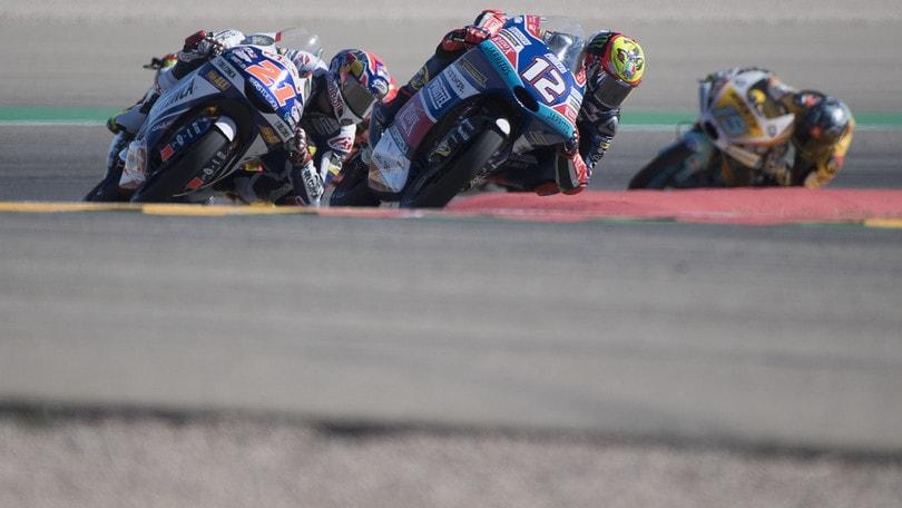 Moto3, Thailandia: Bezzecchi centra la pole
