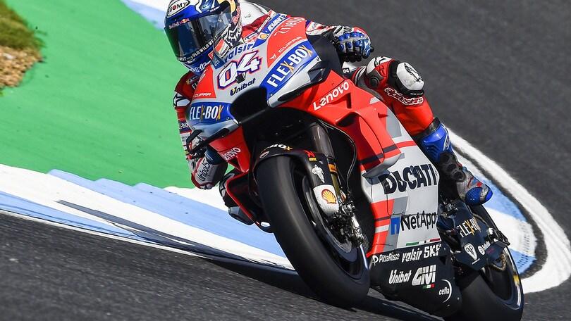 MotoGp, Thailandia: Dovizioso non molla, Rossi terzo nelle quarte libere