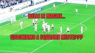 Udinese-Juventus, maglie con colori troppo simili: i social insorgono