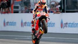MotoGp Thailandia, Marquez: «Gara difficile, bellissimo vincere qui»