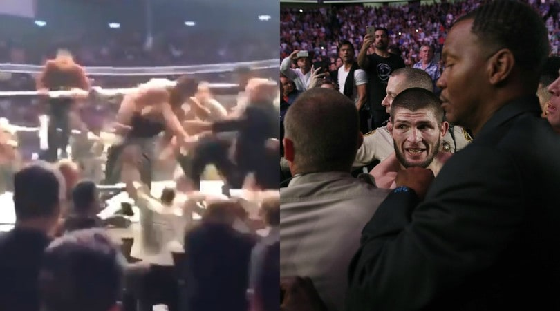 UFC, Khabib piega McGregor e poi scatena una mega rissa