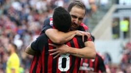 Super Higuain, il Milan spazza via il Chievo. Tonelli acuisce la crisi dell'Atalanta