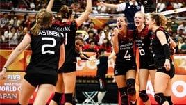 Volley: Mondiali Femminili: risultati e classifiche della 1a della seconda fase