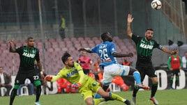 Serie A Napoli-Sassuolo 2-0, il tabellino