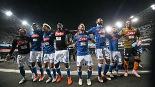 Delirio al San Paolo: il Napoli fa festa sotto le curve