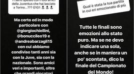 Buffon, nostalgia Juve:«Sento sempre Barzagli, Bonucci e Chiellini»