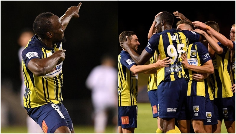 Bomber Bolt, la doppietta con i Central Coast Mariners