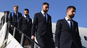 L'Italia di Mancini è arrivata in Polonia