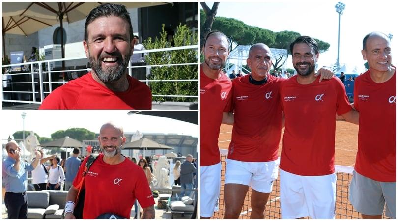 """Da Candela a Di Canio, è show al """"Tennis & Friends"""""""