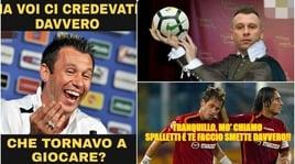 Cassano saluta il calcio con una lettera: social impietosi