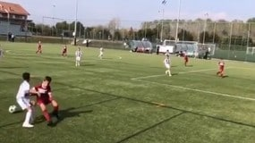 Ronaldo jr show con la maglia della Juventus: CR7 posta il video