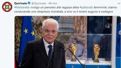 Volley: i complimenti via Tweet del Presidente Mattarella alle azzurre