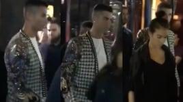 Ronaldo e Georgina a Parigi: concerto e cena romantica