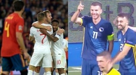 Nations League: l'Inghilterra vince in Spagna, Dzeko trascina la Bosnia
