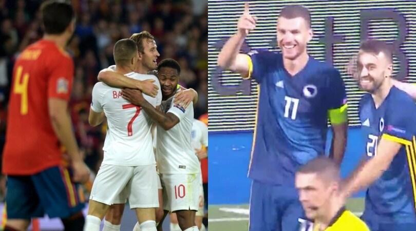 Nations League: l'Inghilterra vince in Spagna, Dzeko trascina la Bosnia