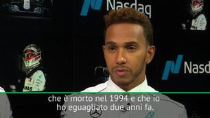 """Hamilton: """"Raggiunto Senna, ora Schumacher!"""""""