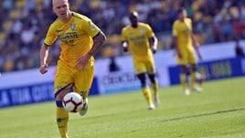 Serie A Frosinone, Hallfredsson fermato dalla tendinite rotulea