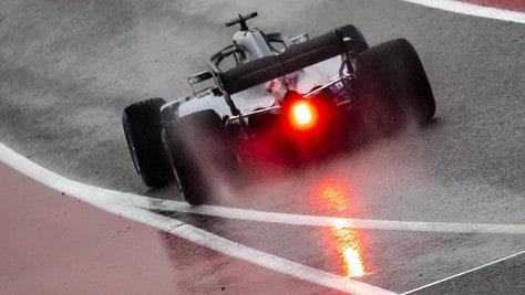 F1, Austin: Hamilton davanti sul bagnato, Vettel quinto