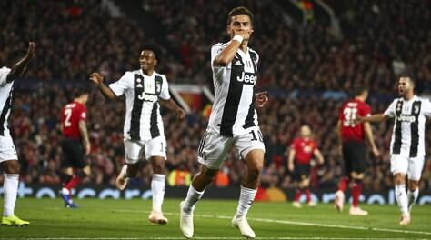 Champions, Manchester United-Juventus 0-1: decide il gol di Dybala al 17'