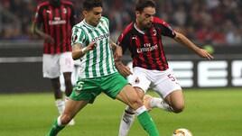 Europa League Milan-Betis 1-2, il tabellino