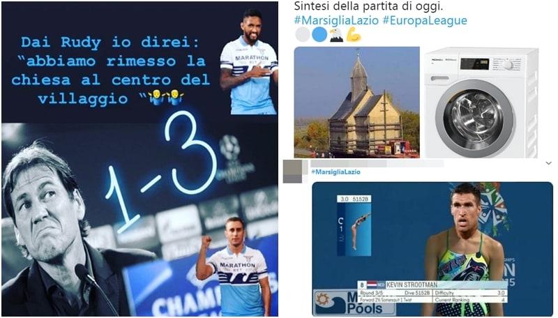 La Lazio sbanca Marsiglia: i tifosi ironizzano con Rudi Garcia e Strootman