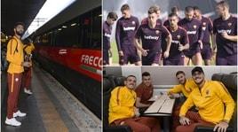 Roma, rifinitura a Trigoria e treno per Napoli