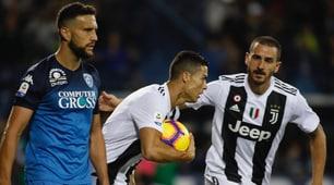 Empoli-Juventus 1-2: rimonta firmata Ronaldo