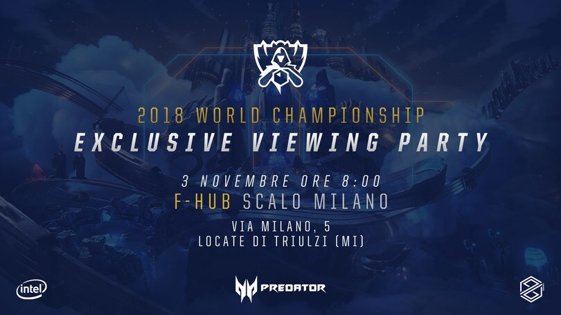 Worlds League of Legends: annunciato l'Exclusive Viewing Party targato PG Esports