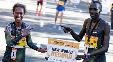 Atletica, mezza maratona: record del mondo per Kiptum