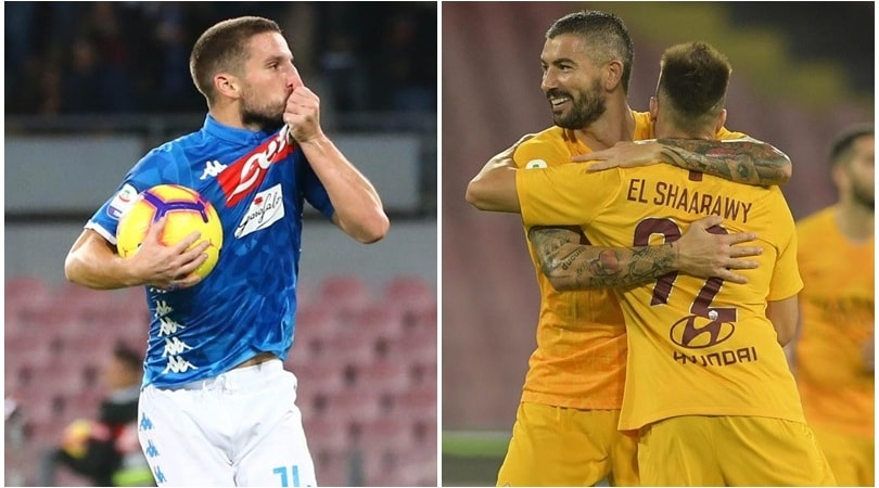 Serie a napoli roma 1 1 mertens risponde a el shaarawy for Tuttocampo serie d