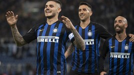 Icardi e Brozovic gelano l'Olimpico: la Lazio affonda 3-0