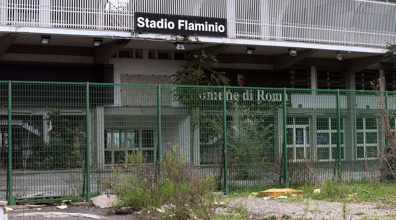Stadio Flaminio, la prima pietra