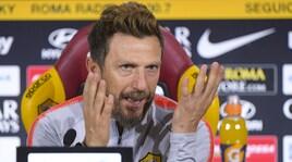 Di Francesco: «Voglio una Roma più aggressiva. De Rossi out anche in Champions»
