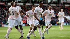 Premier League: United al fotofinish, tris Tottenham. Pari tra Arsenal e Liverpool