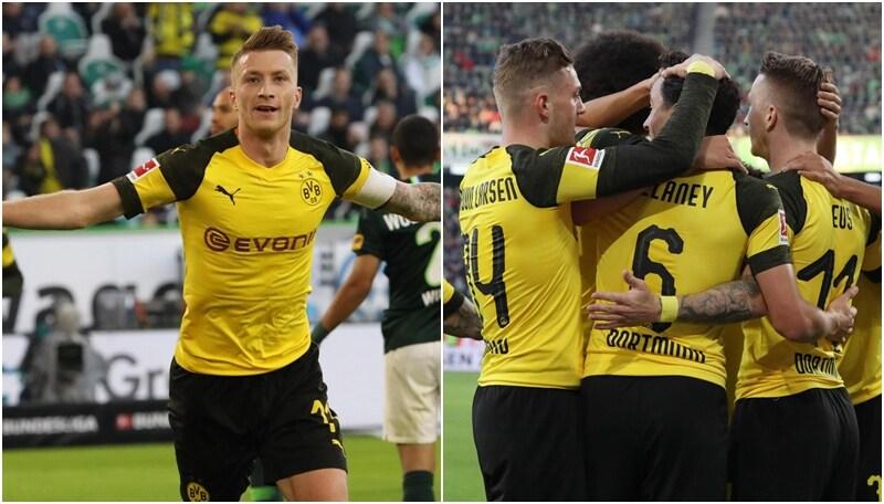 Bundesliga, blitz del Dortmund con il Wolfsburg: Reus per la fuga giallonera