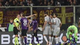 Moviola serie A, Fiorentina-Roma: non è rigore da...Banti
