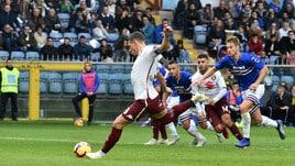 Serie A Sampdoria-Torino 1-4, il tabellino