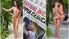 Jessica celebra Immobile con un doppio cuore sul nostro giornale