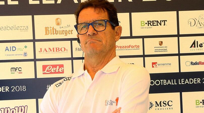 Capello: «Juventus? In campionato col freno a mano»