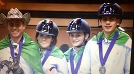 Il campano Vittorio De Iulio argento agli europe Fei giovanili di Lione