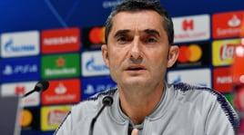 Valverde: «Messi contro l'Inter? Non voglio correre rischi»