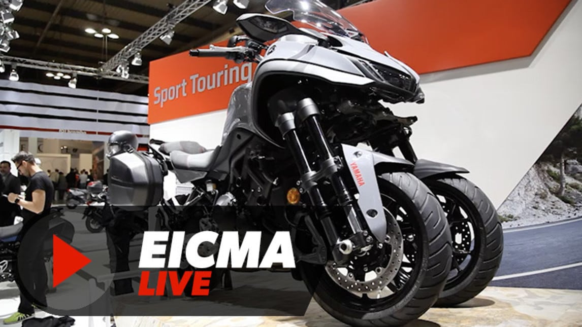 video yamaha niken gt live eicma 2018 corriere dello sport. Black Bedroom Furniture Sets. Home Design Ideas