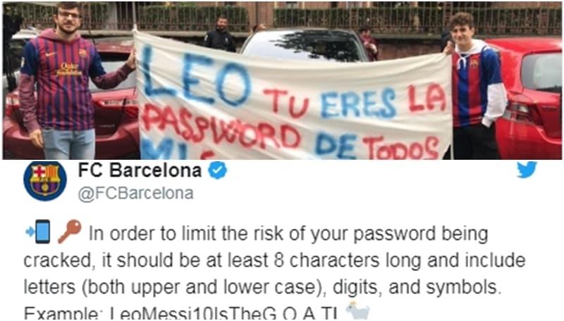«Messi il migliore di sempre»: il Barcellona suggerisce la password ai suoi tifosi