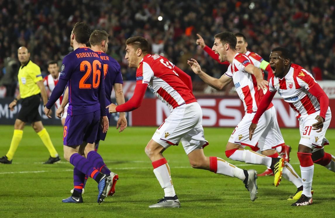 Clamoroso a Belgrado, Liverpool sconfitto 2-0 dalla Stella Rossa! Brugge corsaro a Monaco