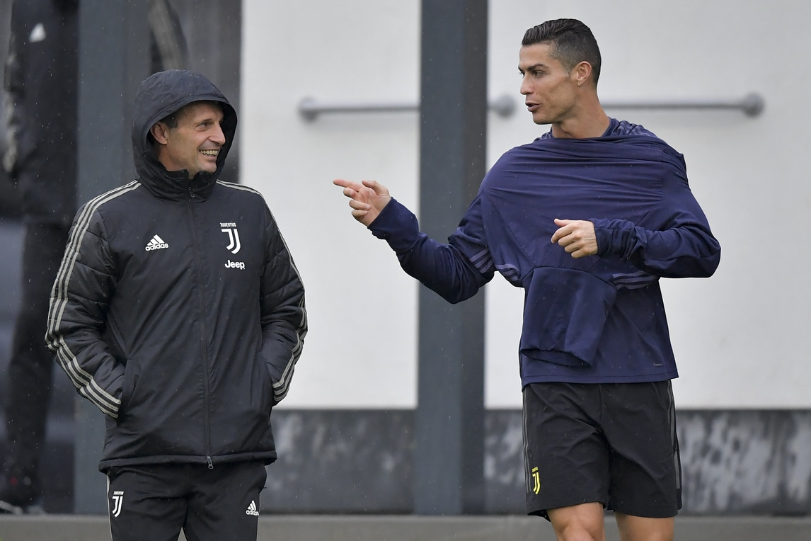 Juventus, Allegri: «Con lo United segna Ronaldo». Bonucci: «Dategli il Pallone d'Oro»