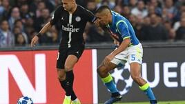 Champions League Napoli-Psg 1-1, il tabellino
